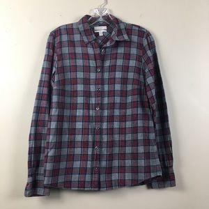 J. Crew | Red & Gray Plaid Boy LS Shirt | Size 2